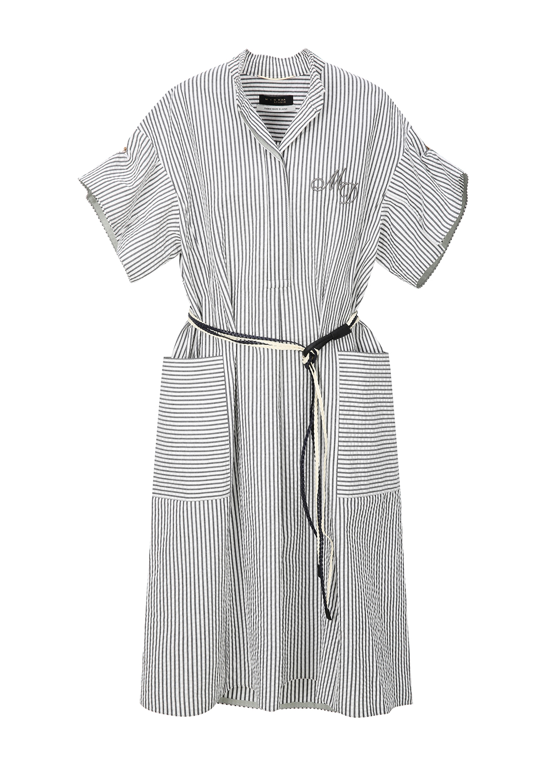 Stripe Big Pocket Dress