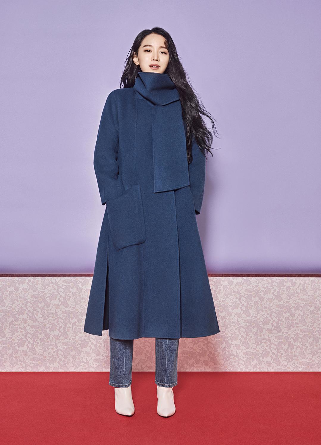 ◈Muffler Collar Wool Cashmere Hand Made Coat[신혜선착용]