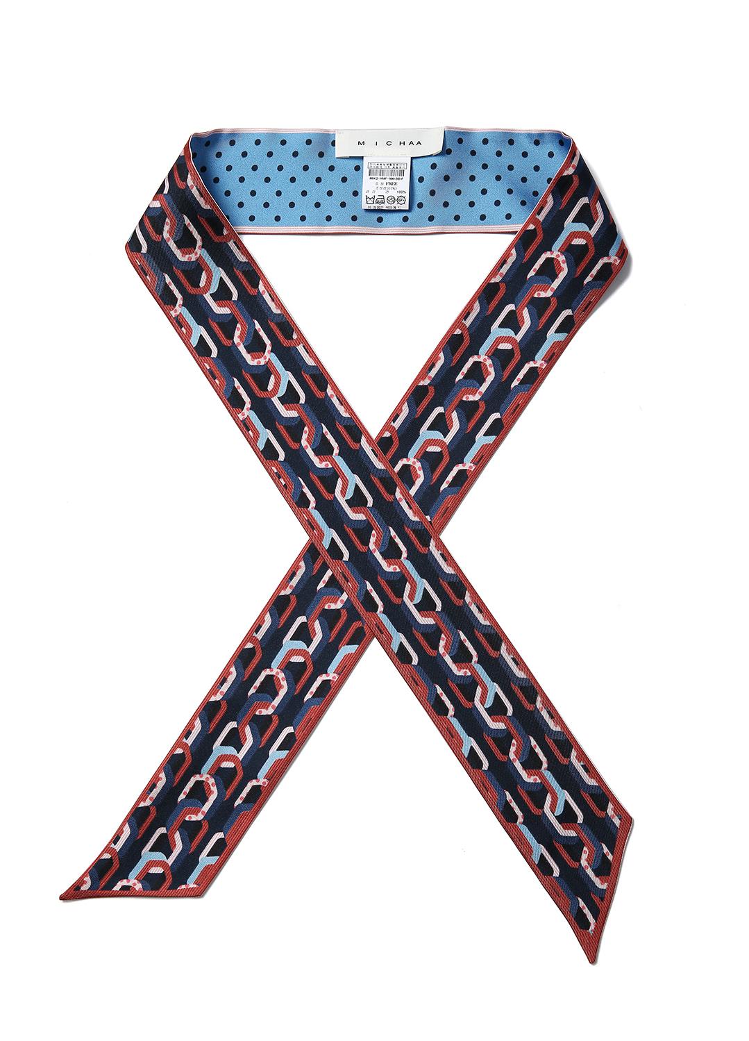 패턴 포인트 쁘띠 스카프