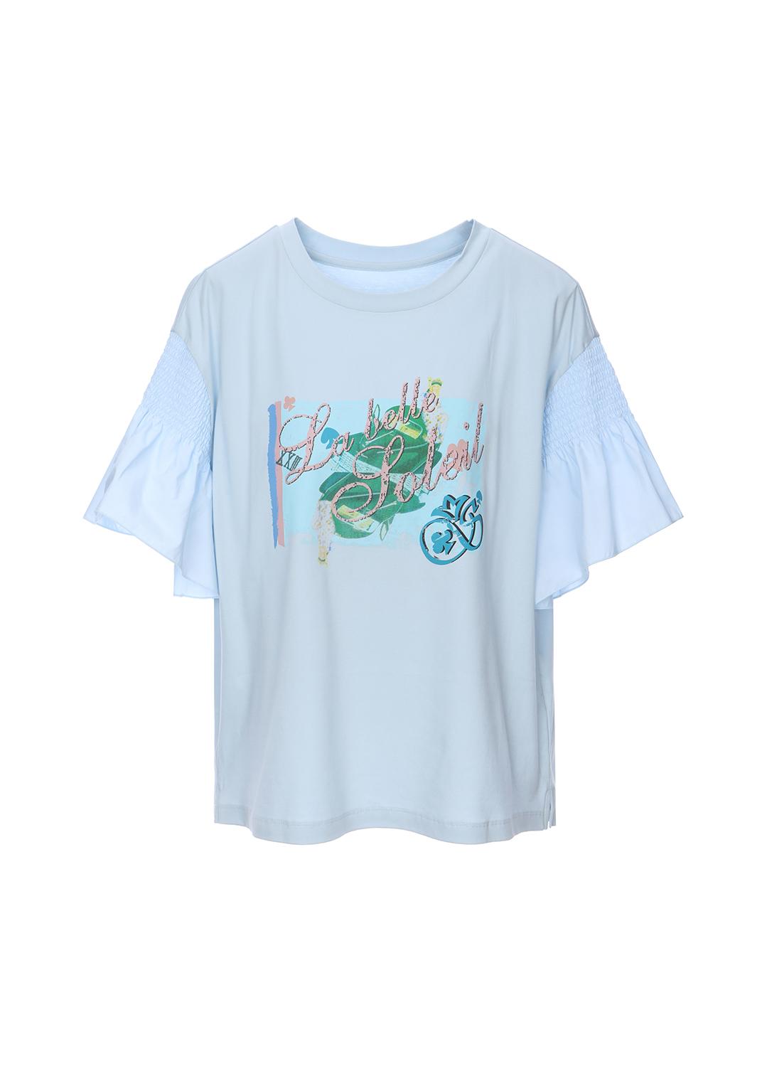 프릴소매 반팔 티셔츠