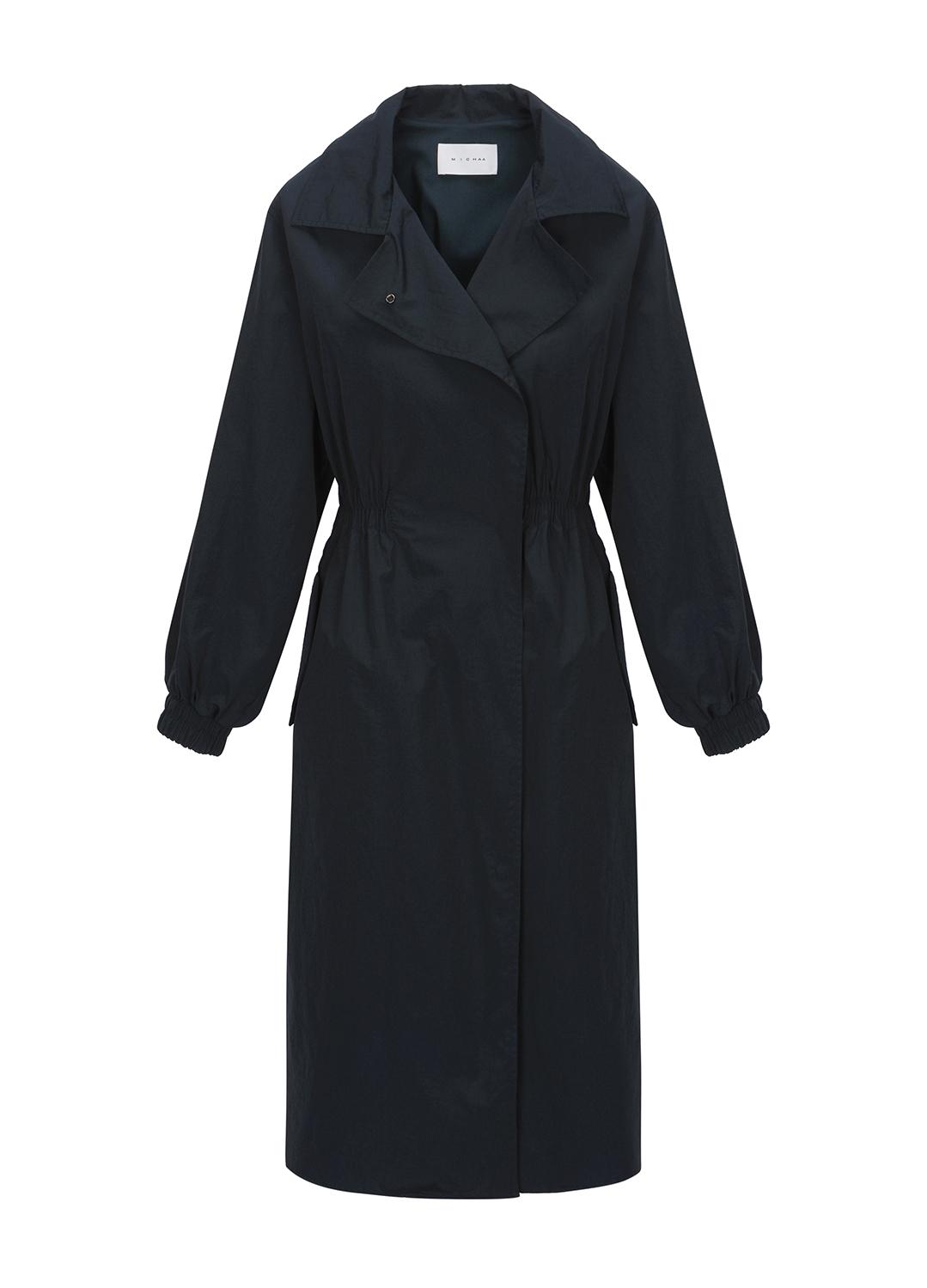 [신상품 특가전] 나일론 스탠다드 카라 뒷 주름 코트