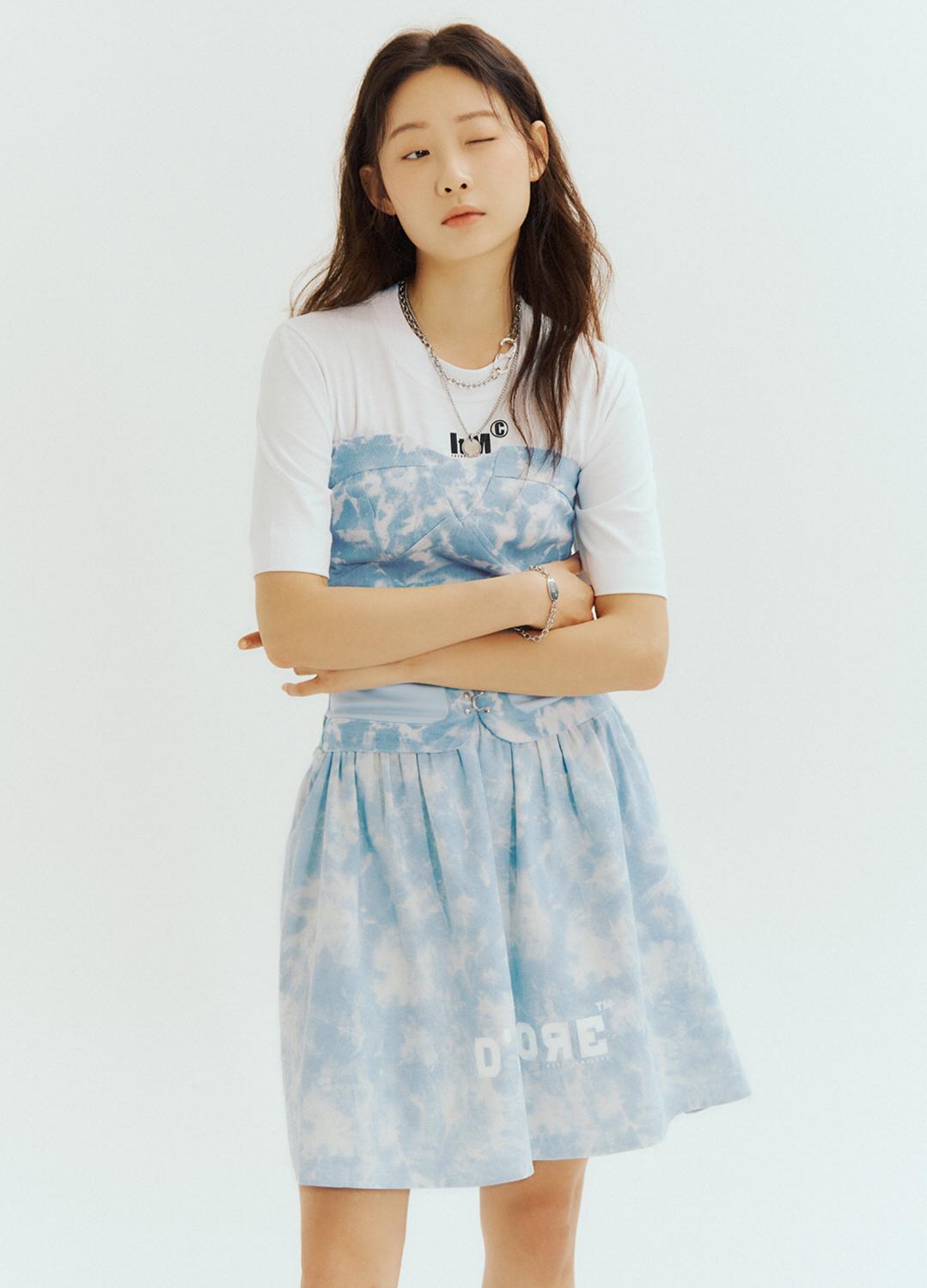 [Exclusive][RUE DE IT] 타이다이 데님 원피스