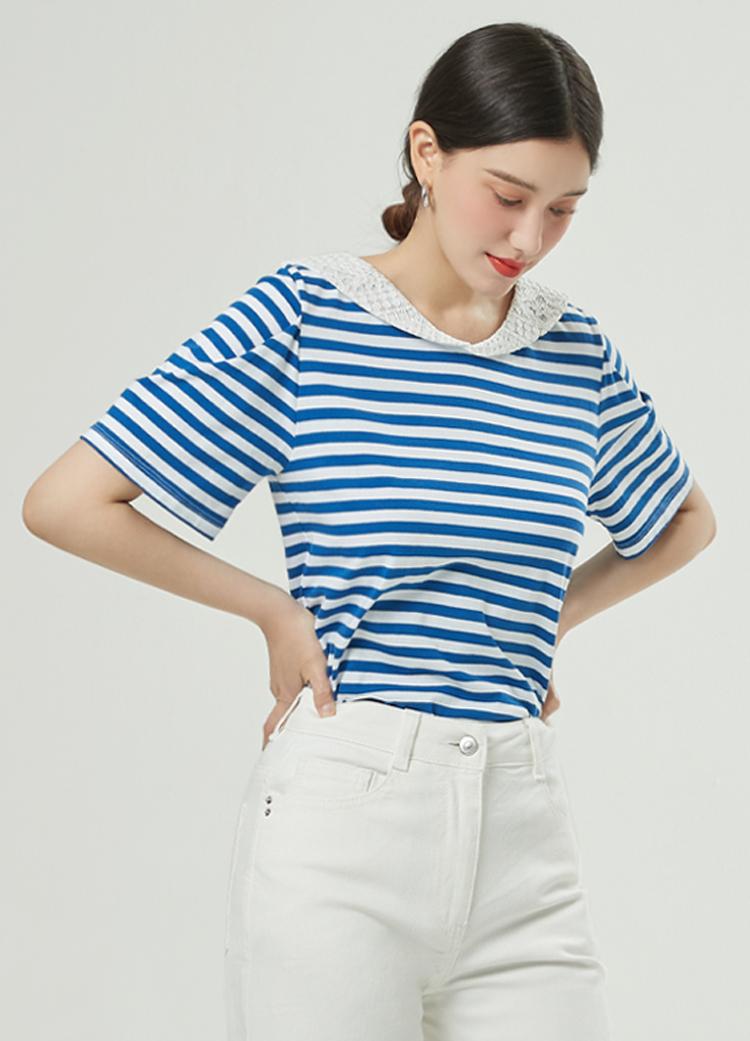 [주말특가쿠폰][RUE] 세일러 스트라이프 티셔츠