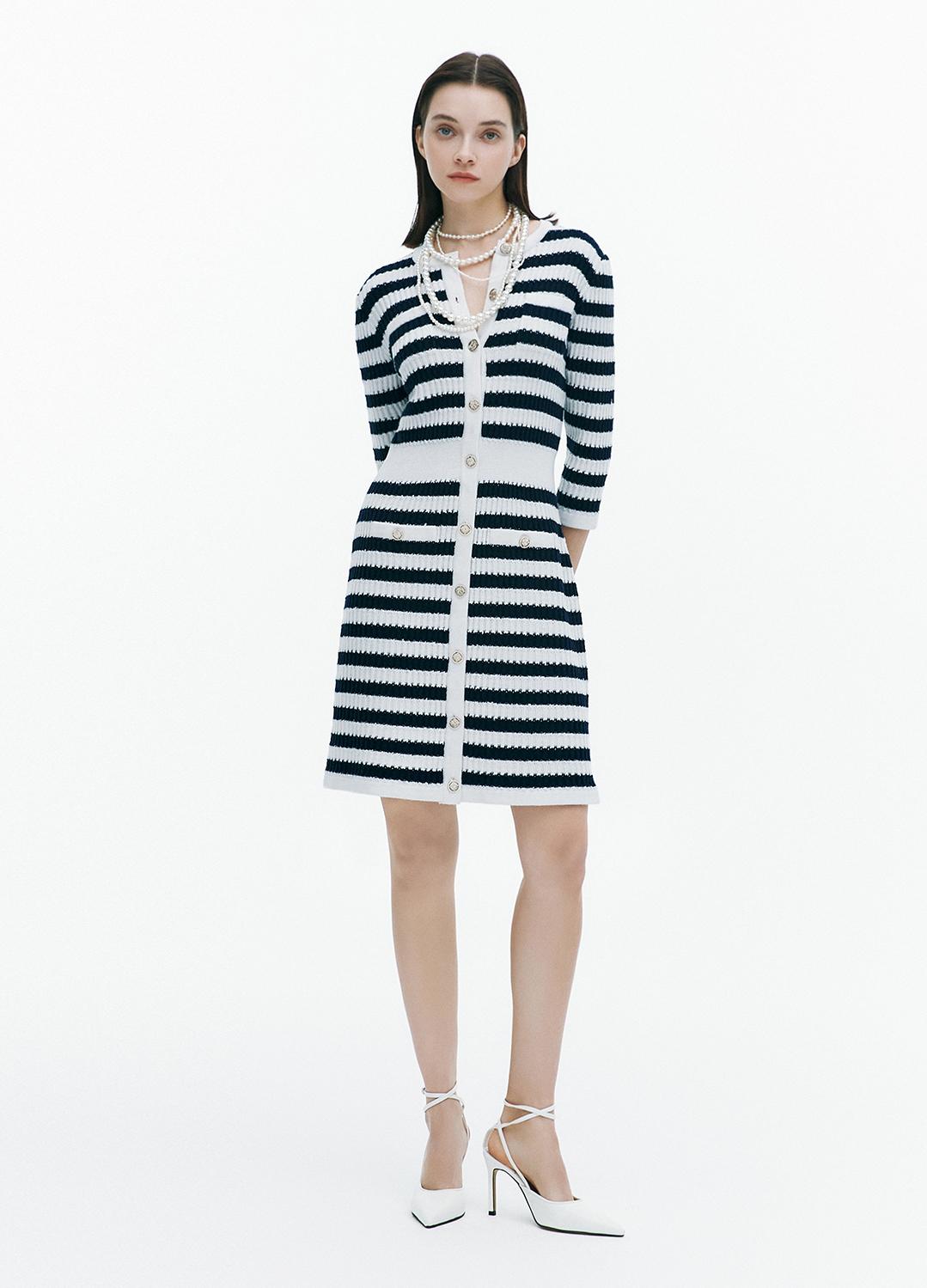 [FAD]Stripe knit dress