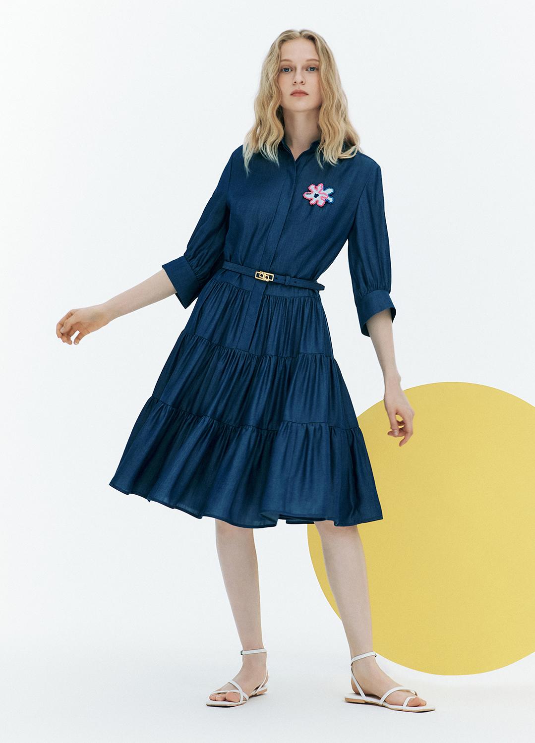 [FAD] Tiered shirt dress