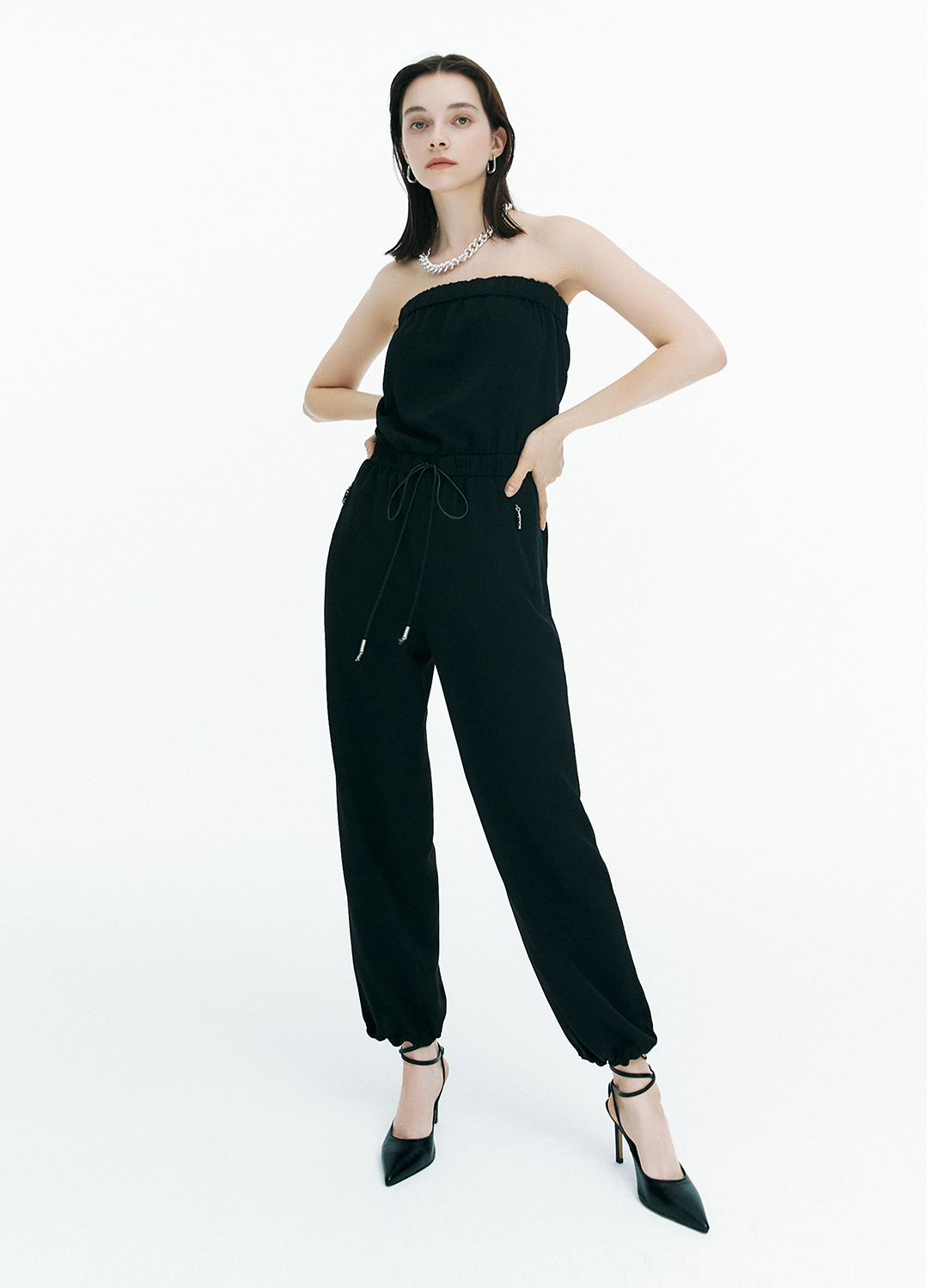 [FAD]Off shoulder jumpsuit