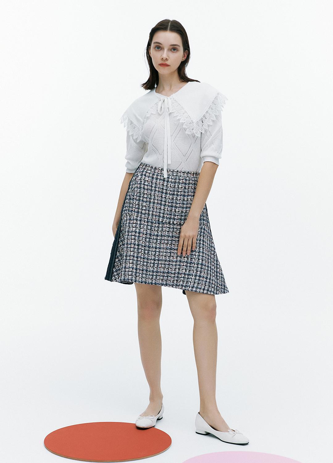 [FAD] Sailor collar V neck knit pullover