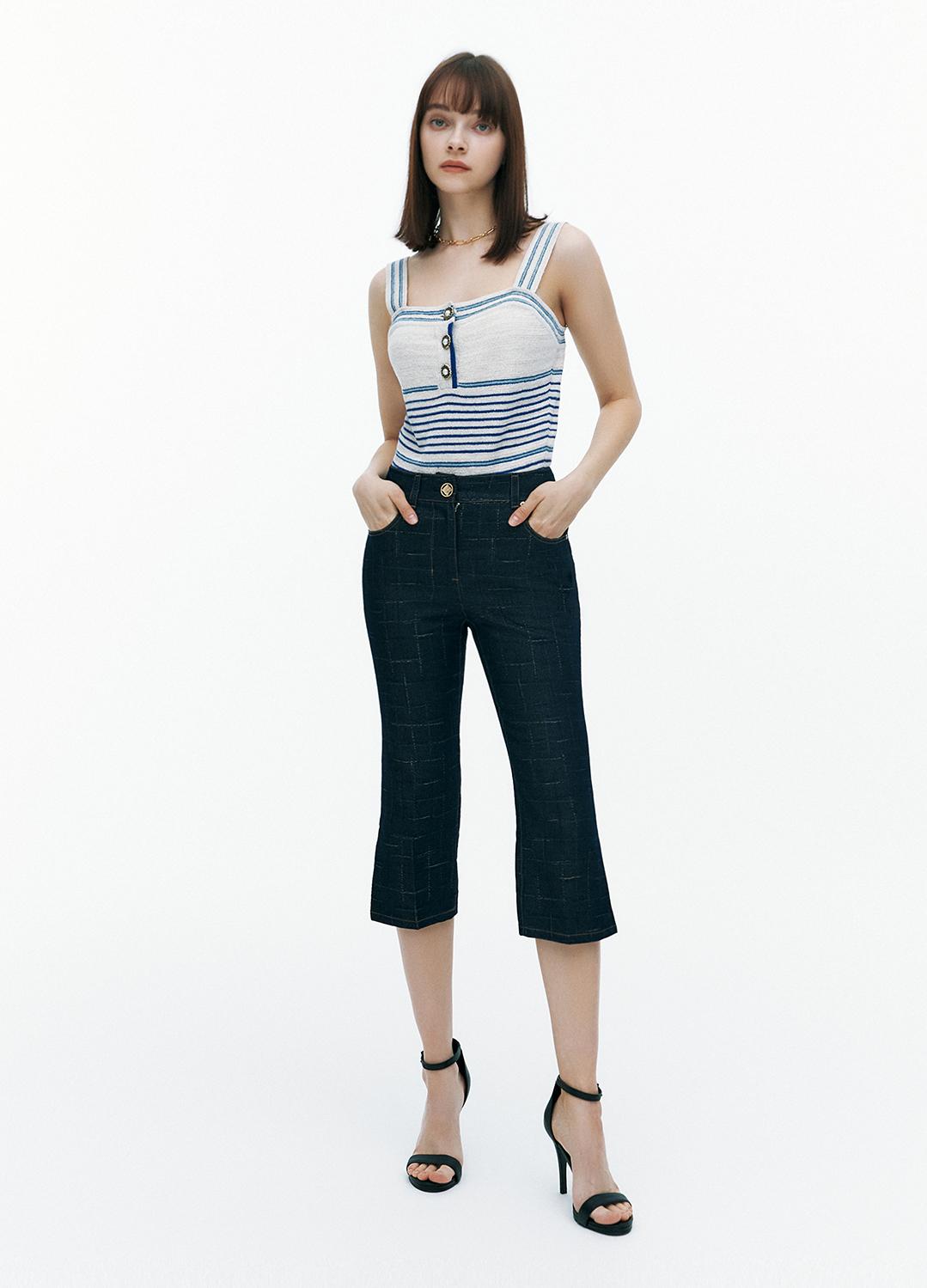 [FAD] Metallic cropped pants