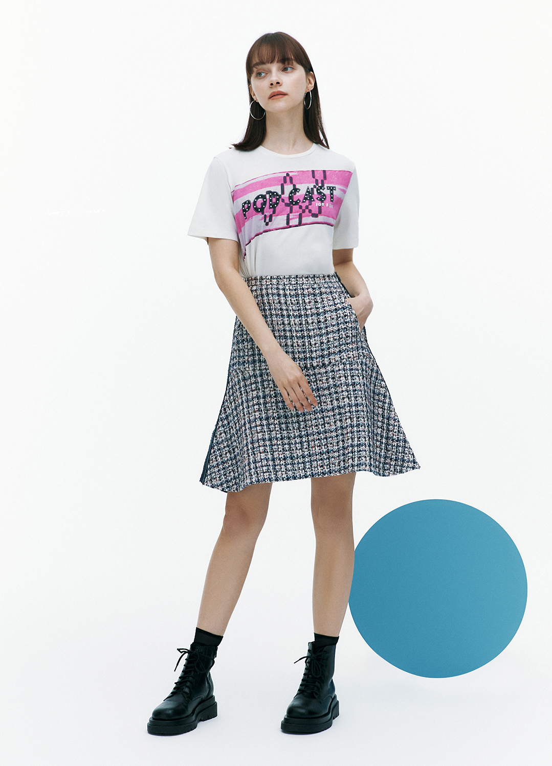 [FAD] Podcast Lettering Half Sleeve T-shirt