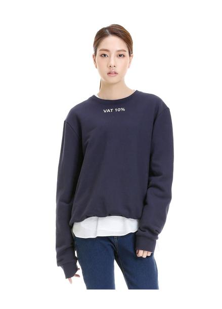 [INTERVIEW X THE STUDIO K/라스트세일50%] 김원중 착용 VAT SWEAT TOP_NAVY
