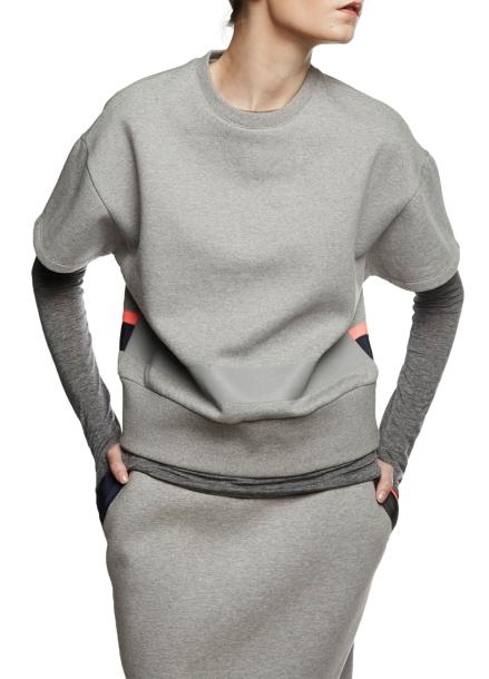 [ATICLE/70%SALE]Reflected Print Napping Sweatshirt