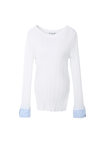 Sleeve Coloring Point Pullover[티파니/장나라/쯔위착용]