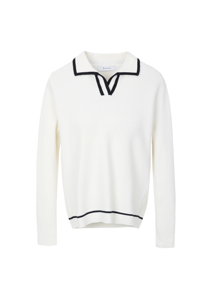 Collar Line Coloring Pullover
