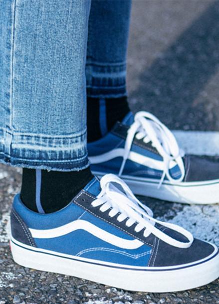 [ANDERSSON BELL/라스트세일40%]SIDE LINE SOCKS_BLUE