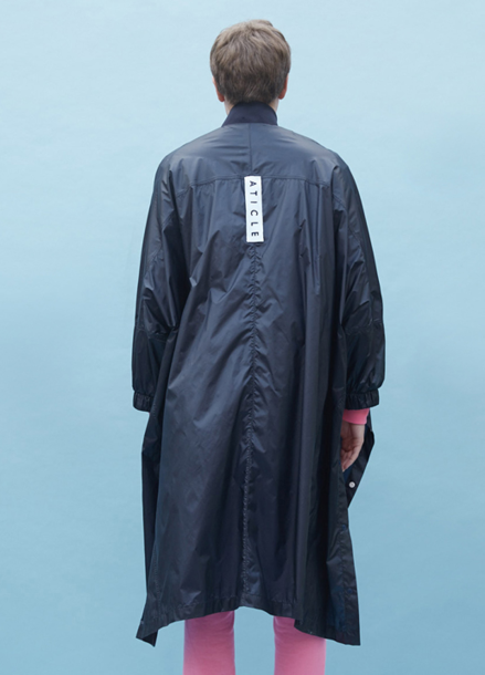 [ATICLE/70%SALE]Snap Decoration Oversized Ripstop Coat