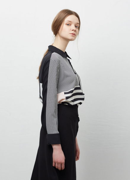 [YouNess] Multi Stripe Shirt