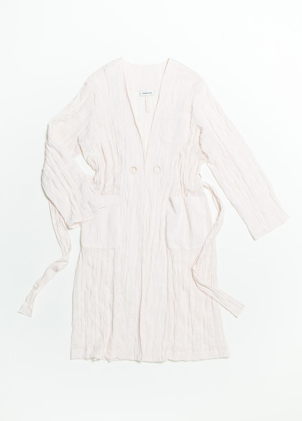 [CROQUIS GLOW] WOMENS WRINKLE ROBE-RIGHT PEACH