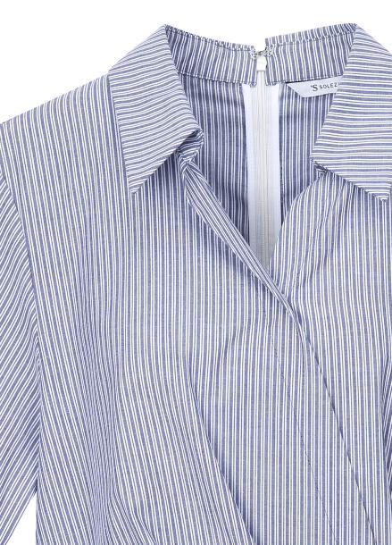 ● Stripe Patterned Wrap Dress