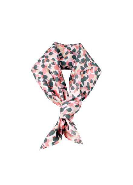 [C.TWINS] dot silk scarf_pink