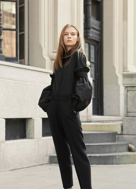 [INTERVIEW X MILLOGREM/라스트세일50%]한지민 착용/ Swell Sleeve Blouse_BLACK