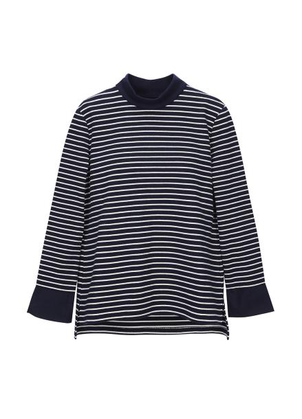 Shirt Sleeve Stripe Patterned T-Shirt