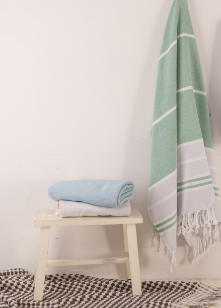 [Turkish Cotton Towel] urban - green for beach bath travel