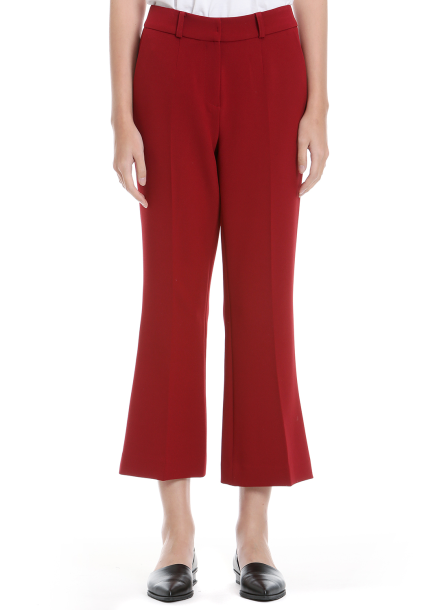 Wide Crop Slim Pants