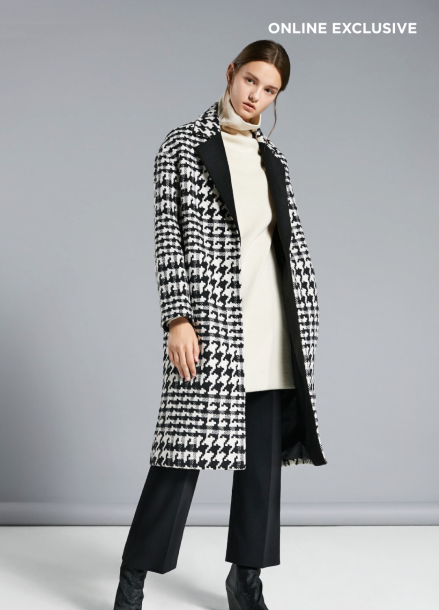 ☆ Hound Tooth Patten Long Coat