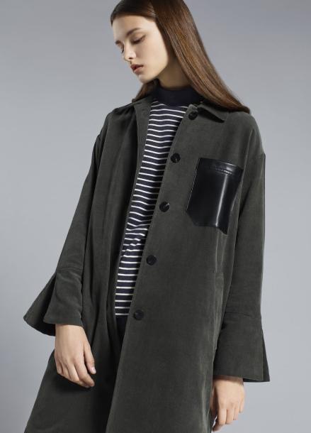 Synthetic Leather Big Pocket Jacket