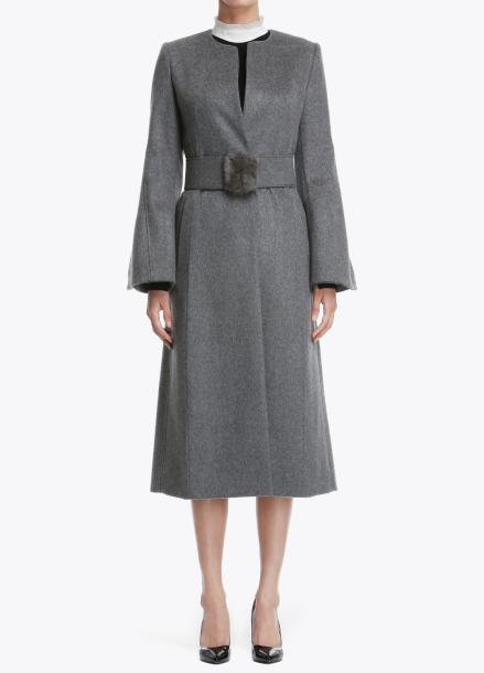 Fur Belted Coat