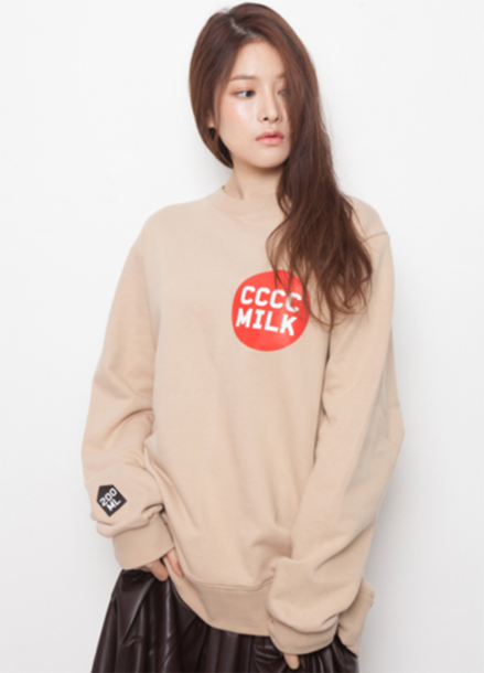 [단독15%할인+뱃지증정] CCCC Milk Sweat shirt_Beige
