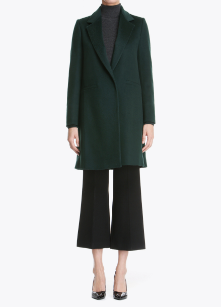 Lining Colorblock Cashmere Coat