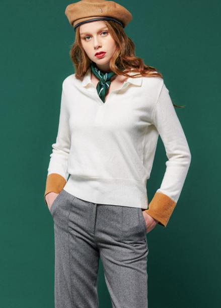 [URAGO/인터뷰단독35%] Collar arm Knit