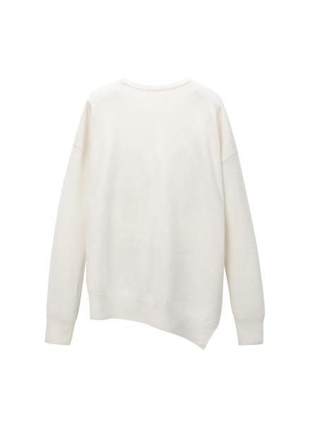 [LEWITT/인기상품] Cashmere Blend Unblance Knit - Ivory
