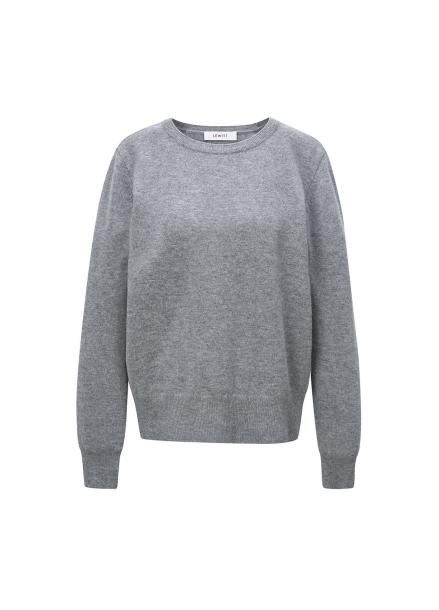 [LEWITT/인기상품] Cashmere Blend Round Knit - Grey
