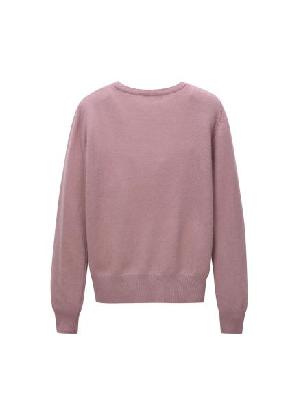 [LEWITT/인기상품] Cashmere Blend Round Knit - Pink