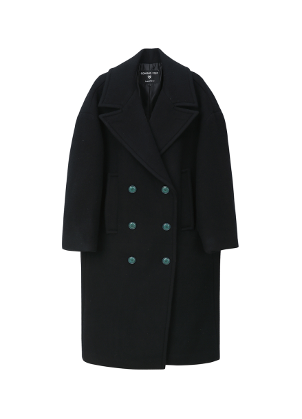 Oversized Wide Collar Long Coat