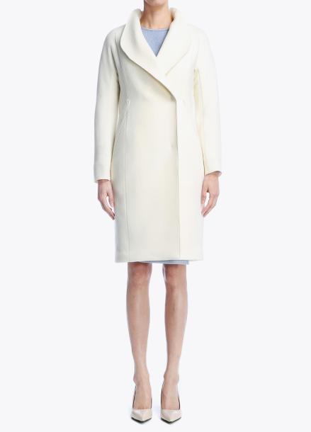 Hidden Button Wool-Blend Coat