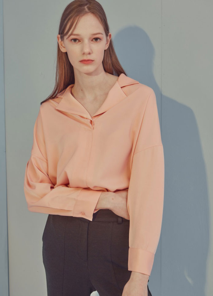 [ADDSENSE]ONE BUTTON BLOUSE_PINK
