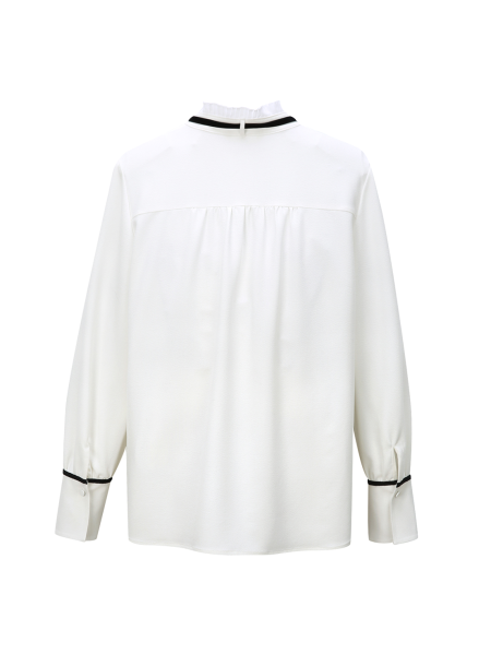 ◆ Frill Ribbon Detail Blouse