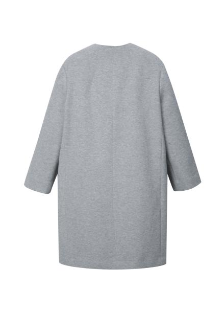 ◆ Cotton Blend V-Neck Long Jacket