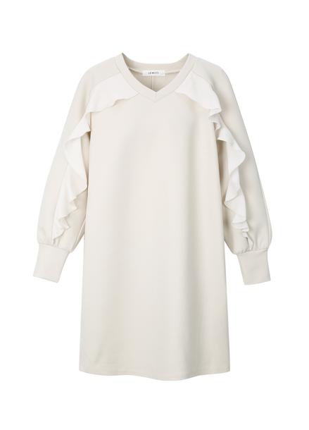 Frill Detail Jersey Dress