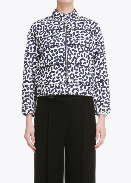 Leopard Patterned Zip-Up Outer