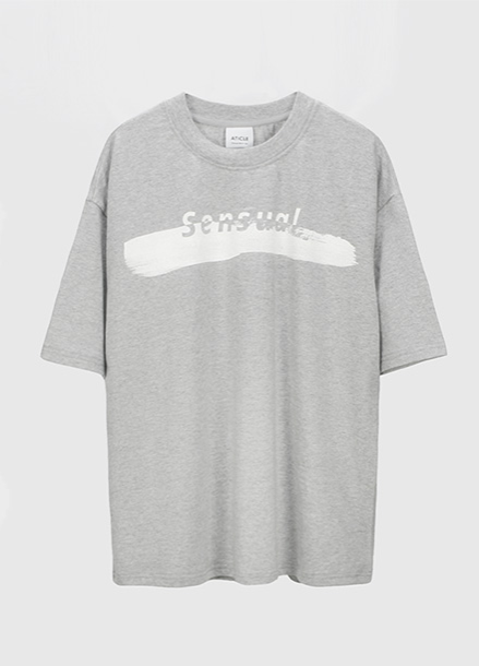 [ATICLE/50%SALE] Brush Touch Print T-shirt_MG
