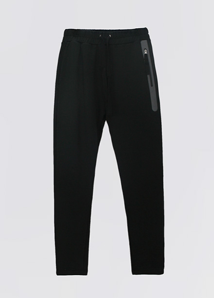 [ATICLE/50%SALE]Welding Zip Baggy Fit Sweatpants_BK
