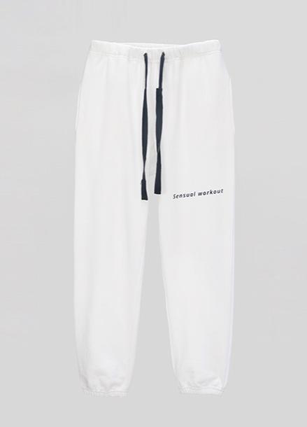 [ATICLE/50%SALE] Ribbon Tape Point Basic Sweatpants_WT