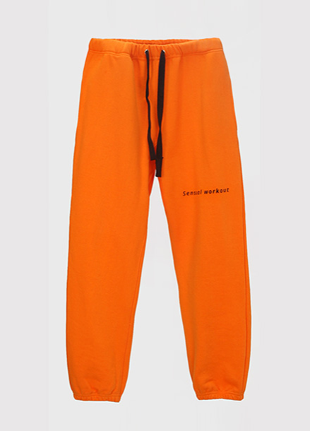 [ATICLE/50%SALE] Ribbon Tape Point Basic Sweatpants_OR
