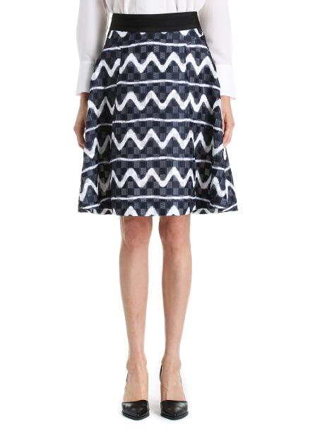 ◈ Zigzag Print Skirt