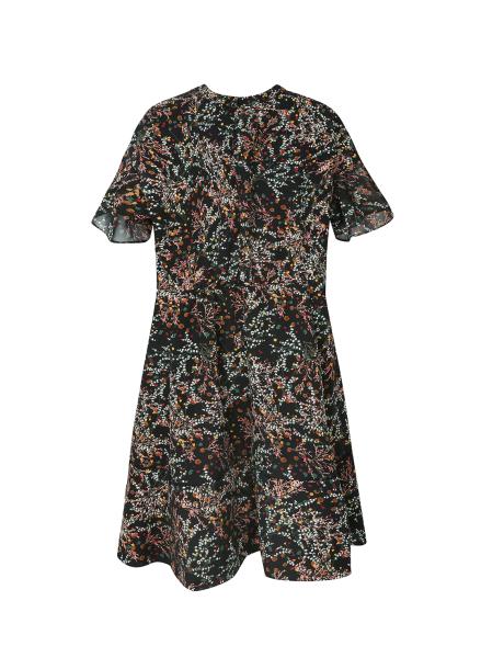 [금토일10%쿠폰] ★ Pattern Ribbon Tie Point Dress