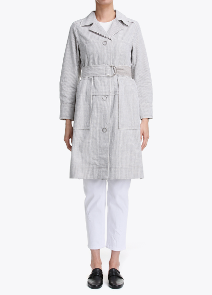 Cotton-Blend Basic Trench Coat